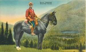 Postcard Royal Canadian Mounted Police Canada Posted 1956
