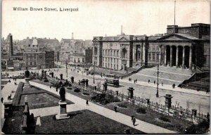 William Brown Street, Liverpool vtg postcards