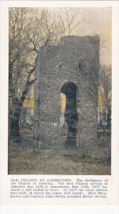 JAMESTOWN, Virginia, 1900-1910's; Old Church