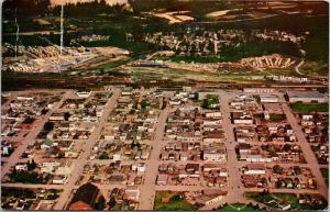Prince George BC Aerial View c1955 Postcard D89 *As Is