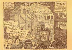 Margaret Thatcher Farm Bring Back Hanging Sign Comic Postcard