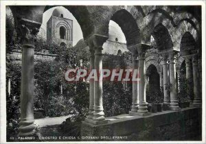 Postcard Modern Palerno Cloister and Church of St John the Hermits