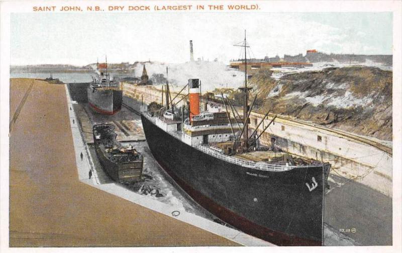 10848  New Brunswick St.John   Ships in Dry Docks