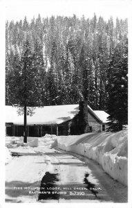 RPPC FIRE MOUNTAIN LODGE Mill Creek, California 1951? Vintage Eastman's Postcard