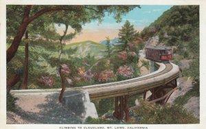 MY LOWE , California, 1900-10s ; Trolly on bridge