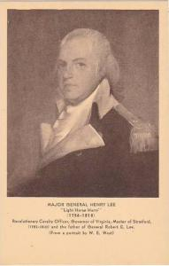 Major General Henry Lee Light Horse Harry 1756-1818