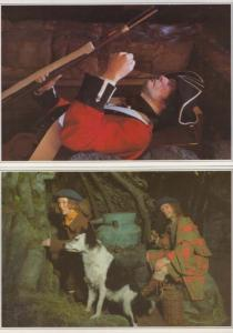 Drunk In Scottish Highlands Dog Cask Guard Army Waxwork Rare Scotland Postcard