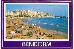Postcard Espana Spain Benidorm Greetings Coast Beach # 2471A
