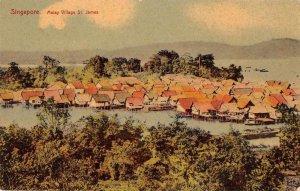 Singapore Malaya St James Village Birds Eye View Vintage Postcard JI658473