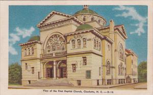 First Baptist Church , CHARLOTTE , North Carolina , PU-1949