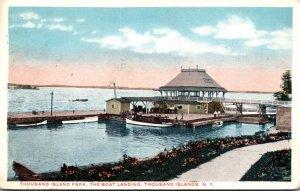 New York Thousand Islands Boat Landing At Thousand Island Park 1921