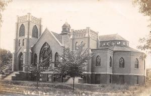 Rolfe Iowa~Dirt Rd by the New Presbyterian Church~c1912 Real Photo Postcard~RPPC