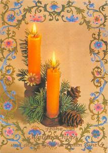 Frohe Weihnachten Merry Christmas and a Happy New Year Candles