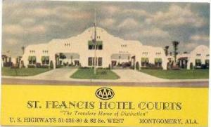 St. Francis Hotel Courts, Montgomery, Alabama, 1930s