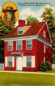 Pennsylvania Philadelphia Fairmount Park Letitia Street House William Penn Ma...