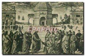 Old Postcard Citta del Vaticano Cappelle Sistina Perugino Key collection in S...