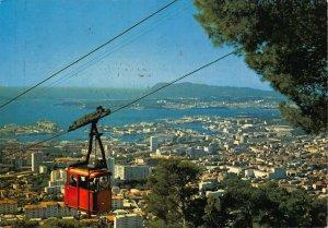 France Toulon Vue Generale Le Telepherique Cable Car Panorama Postcard