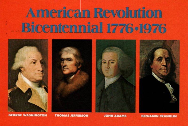 American Revolution Bicentennial Washington,Jefferson,Adamas,Franklin BIN