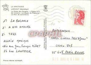 Modern Postcard Lorient Morbihan The Palais des Congres The Church Lady of Vi...