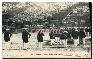 Postcard Old Death Review of Toulon Naval & # 39armee