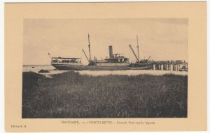 Benin; Dahomey, No 1, Porto Novo, Branch Boat On The Lake PPC, By ER, Unused