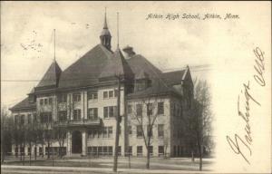 Aitkin MN High School c1910 Postcard