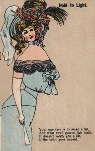 Fair Maid, 1901-07s; (Upset Tailor)Hold To Light Postcard