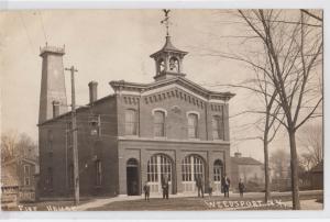 RPPC, FIRE HOUSE, Weedsport NY