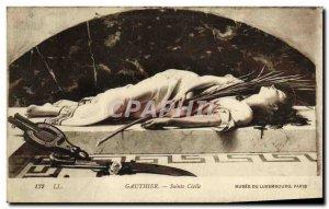 Old Postcard Gauthier Sainte Cecile Musee du Luxembourg Paris