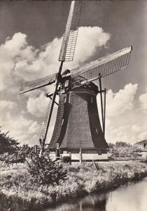 Netherlands Watermolen bovenkruier te Zuilen Utrecht Windmill Real Photo