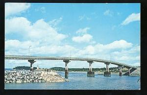 Campobello Island, New Brunswick, Canada Postcard, Franklin D Roosevelt Bridge