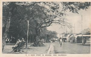 NOUMEA , New Caledonia , 1920s ; Main Street