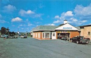 Wheeling IL Car & Van Wash Amoco Gas Station Old Cars Postcard
