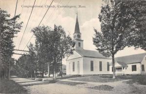 Cummington Massachusetts Congregational Church Vintage Postcard JE228321