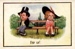 Fed Up!    Boy and Girl      Artist: Reg Maurice