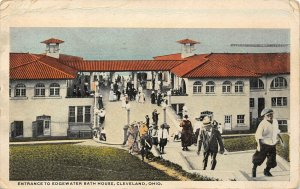 LP12 Cleveland Ohio Edgewater Park Bath House    Postcard
