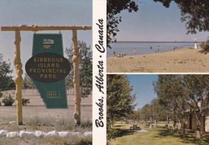 3 Views, Cabins & Beach, Kinbrook Island Provincial Park, Lake Newell, Albert...