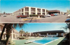 Savannah Georgia~Holiday Inn~Pool~1960-70s Cars~Postcard