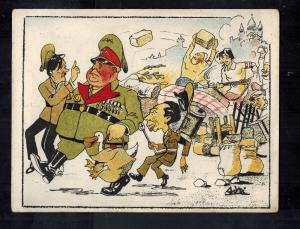 Mint WW2 Europe in Disorder  Hitler Goebbels Patriotic England Postcard