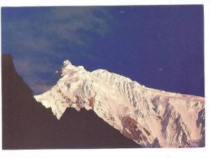 Snow covered Mt. Langtang, Nepal, 50-70s