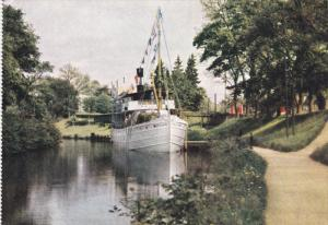 Pallas Steamer in Gota Canal at Motala, Sweden, 50-70s