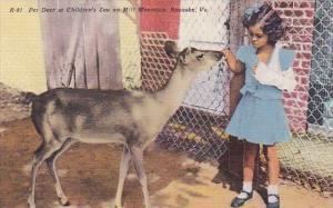 Pet Deer At Children's Zoo On Mill Mountain Roanoke Virginia