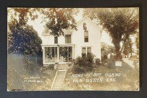 Mint Vintage Van Buren Arkansas Home of Bob Burns Real Photo Picture Postcard