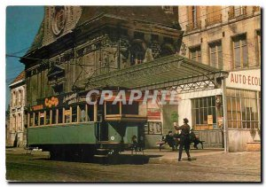 Postcard Modern Cremaillere Laon (CL) Terminus '' High '' of the Hotel de Vil...
