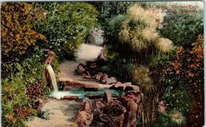 LOS ANGELES, CA  California  SPRING, WESTLAKE  PARK  c1910s Mitchell  Postcard