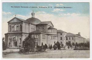 Monastery Catholic University of America Washington DC postcard