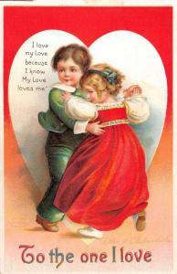 Valentines Day Child Couple Romance Love Clapsaddle Antique Postcard K100014