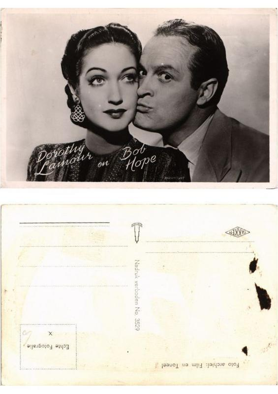 CPA Dorothy Lamour and Bob Hope FILM STAR (554044)