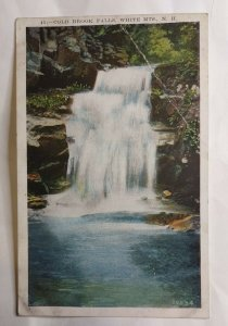 Postcard Cold Brook Falls White Mountains New Hampshire 1931 New York 2022
