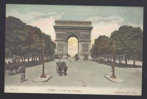 France Paris L'Arc de Triomphe Champs Elysees Vtg c 1910 Neurdein Postcard